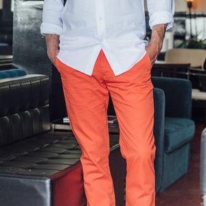 NWT🇫🇷 Les Canebiers Chino Tartane Pants - Orange